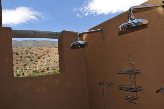 Bosch Luys Kloof Private Nature Reserve: Shower with a view!