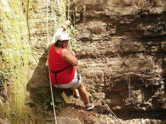 Da Flying Frog Canopy Tours : Rappeling
