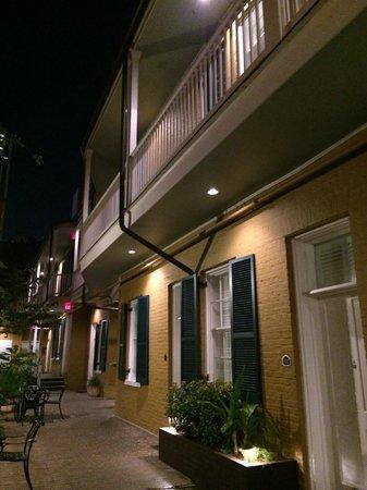 Hotel Mazarin: We were on the third floor (2nd level of this courtyard)
