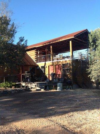 Casa grande rear upper deck picture of juniper well for Grande casa ranch