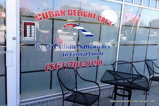 Cuban Delights Cafe : New front window, Cuban Delight Cafe