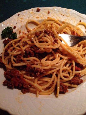 Restaurant Krone: Spaghetti bolognese!