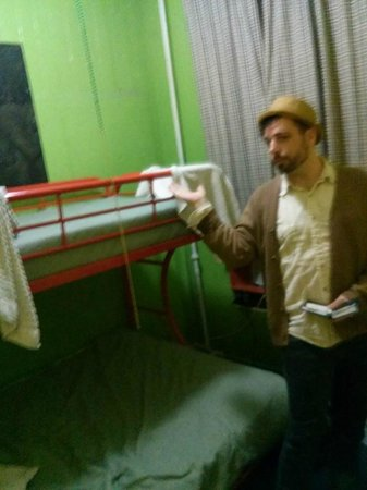 India House Hostel: view of the bunks in the shared rooms