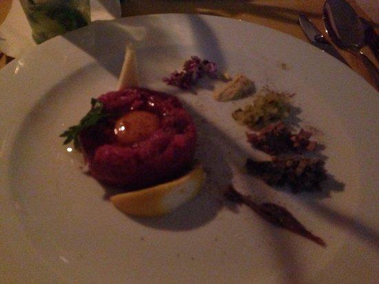 Trezo Restauracja : Beef fillet starter