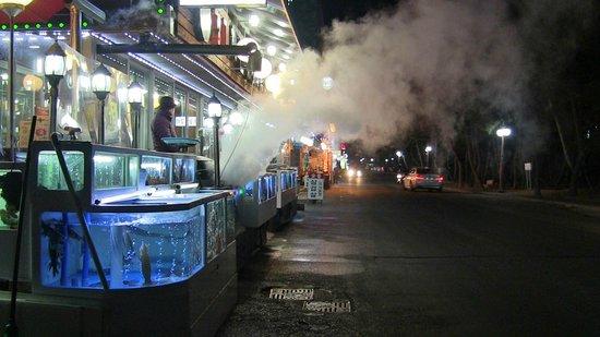 Gyeongpo Beach: Sea side restaurants