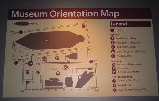 National Civil War Naval Museum: Diagram of the Museum