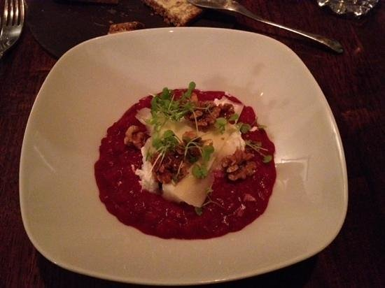 Tailors Restaurant: beetroot rissoto with goat cheese