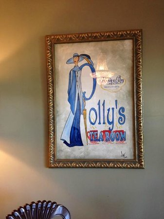 River Lily Inn Bed & Breakfast: Polly's Tea Room sign