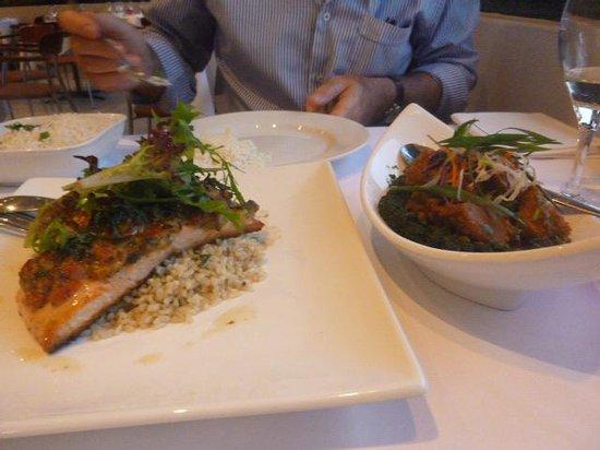Le Bukhara: salmon and dry lamb curry