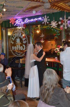 Granville's Coffee: The wedding dance.