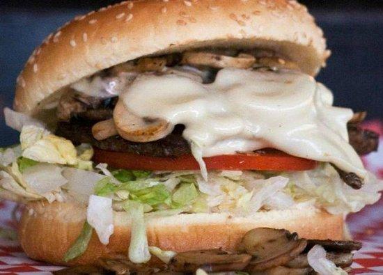 Main Street Diner: Mushroom Swiss Burger