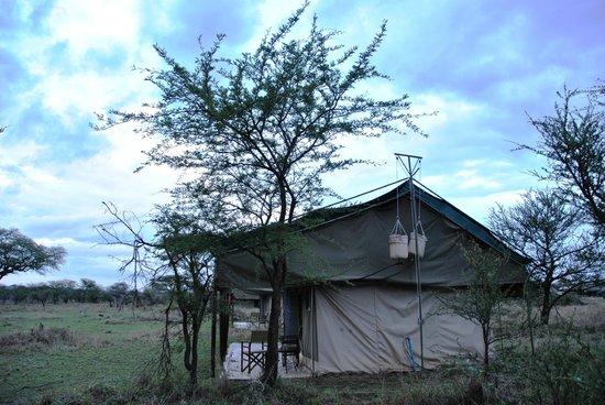 Ang'ata Camp Serengeti: Tenda da Fuori