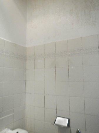 Hotel Printania Porte de Versailles : moisissures de la salle de bains