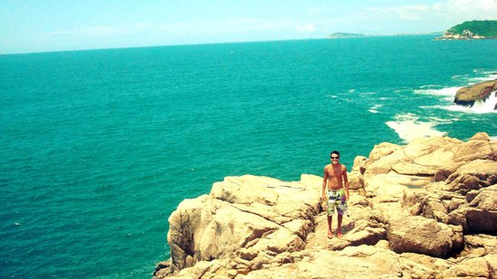 Praia do Rosa: Azul ou Verde? Fiquei na dúvida