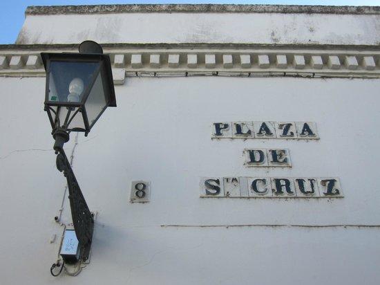 Barrio Santa Cruz : Detalle en la plaza de Santa Cruz
