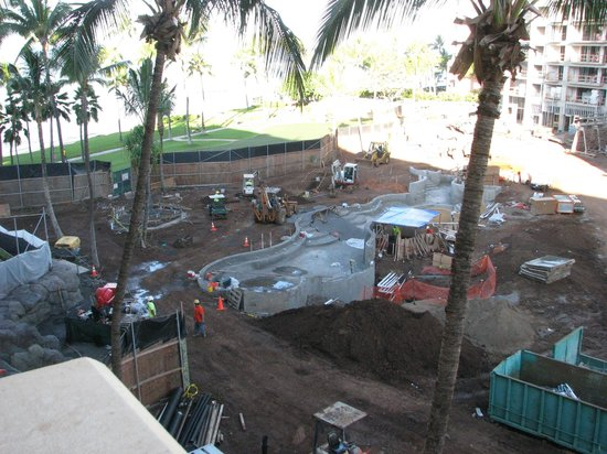 Hyatt Regency Maui Resort and Spa: View from our obtructed view room, this is if you looked straight forward & down, not right or l