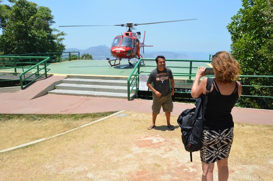 Rafael Torres Lopes Tour Guide: A forest fire helicopter landed where we were enjoying the view!