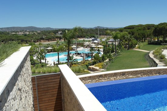 Conrad Algarve: Pool and Hotel View from the Spa
