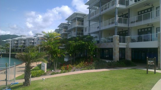 Mantra Boathouse Apartments : Rear of the apartments on the marina