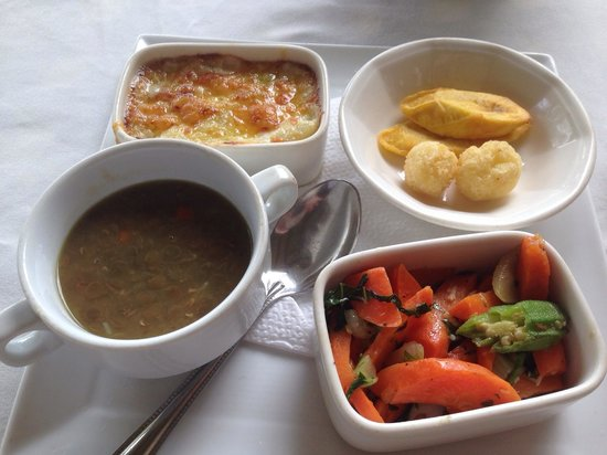 The Pink Plantation House: The sides served with lunch