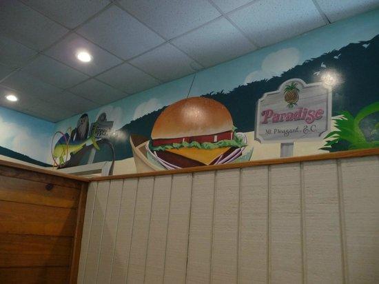 Gilligan's Seafood Restaurant: wall inside