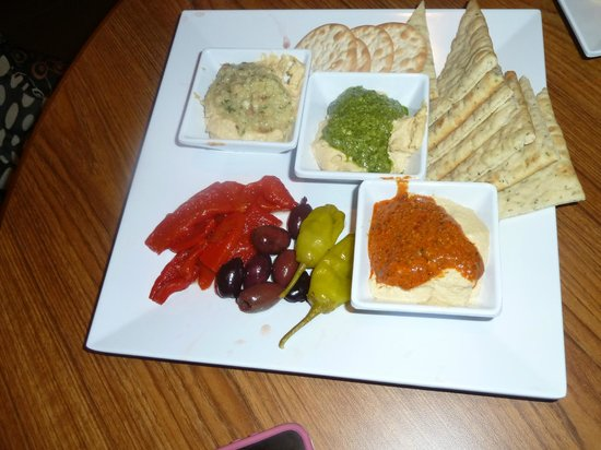Hyatt Place Delray Beach: dips and bread selection