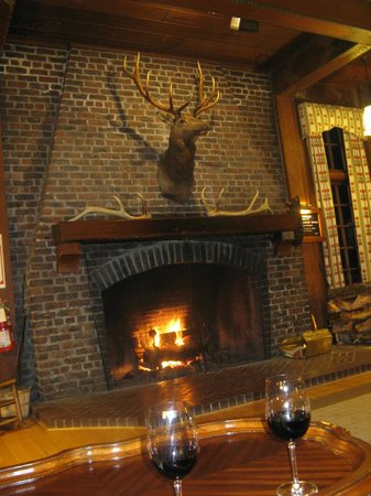 Lake Quinault Lodge: Fireplace