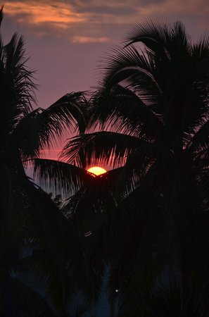 Casa de los Angeles Boutique: Sunset from the third floor palapa