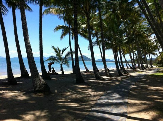 Palm Cove Holiday Park: Palm Cove beach front.