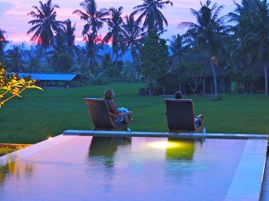 Lodtunduh Sari: Sunset Drinks beside the pool
