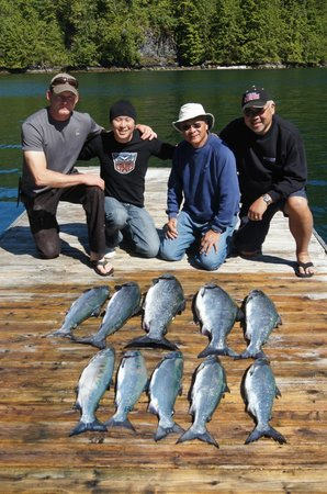 Fishers Island Adventures: A limit of Chinook and Coho