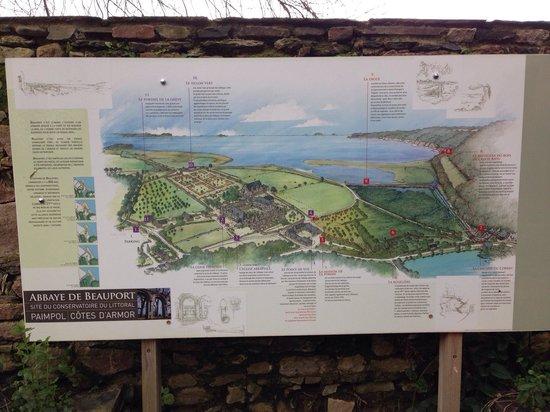 Abbaye De Beauport : Plan