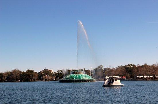 Lake Eola Park Orlando Swan Boats