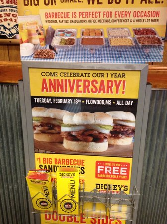 Dickey's Barbecue Pit: Anniversary specials