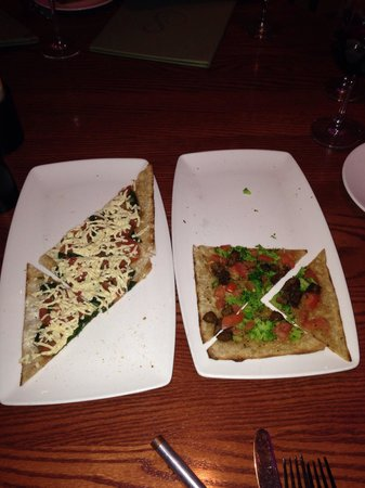 Sublime Restaurant & Bar : Flatbreads that are mighty tasty.