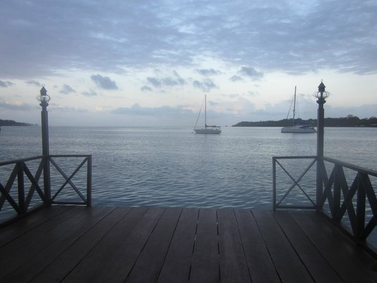 Bocas Inn: view from the lower deck