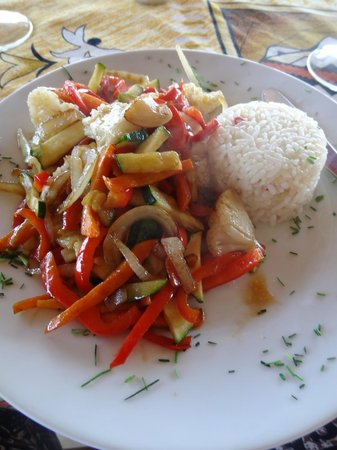 Iorana Hotel : Vegetarian main meal