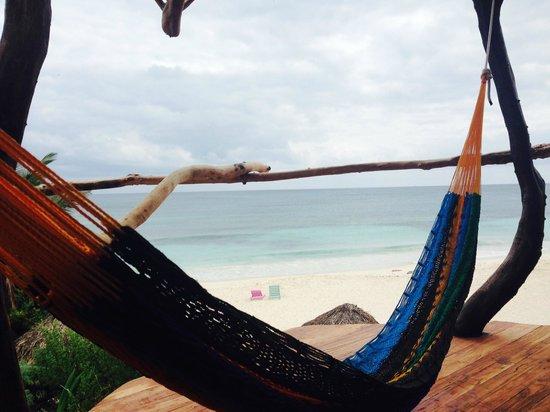 Azulik: Hammock overlooking the beach room 20