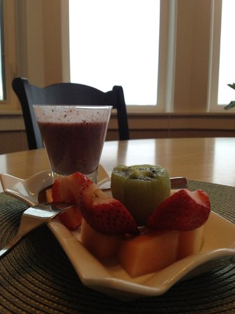 Beachside Garden B & B : breakfast