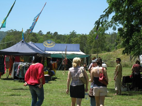 Crystal Waters Eco Village: Market day on the Village Green