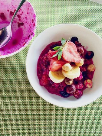 RIMBA Jimbaran BALI by AYANA: Dragonfruit Granola Bowl for Breakfast