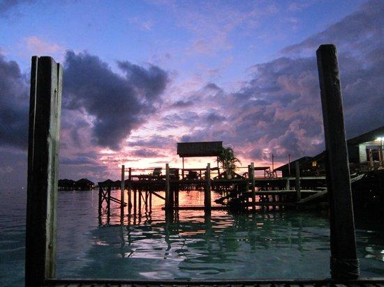 Sipadan Water Village Resort: sunrise from the boat before diving sipadan at 5.15am