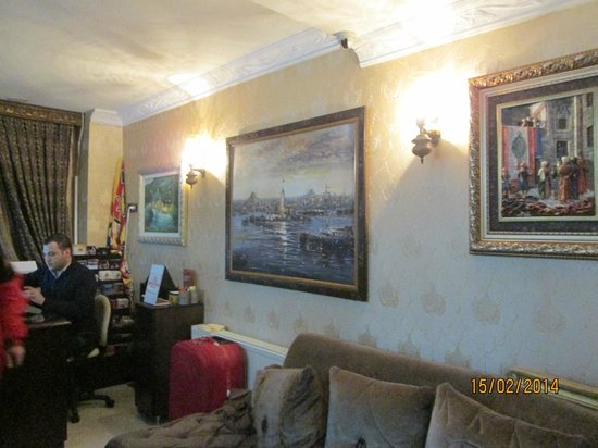 Hotel Aslan Istanbul : Ресепшн