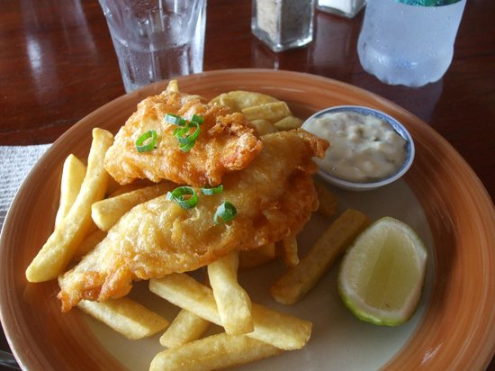 The Waterfront Bar and Grill: Fish and Chips