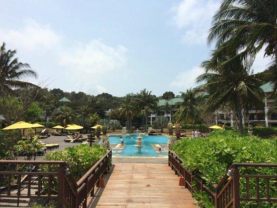 Angsana Bintan : Udsigt over poolområde