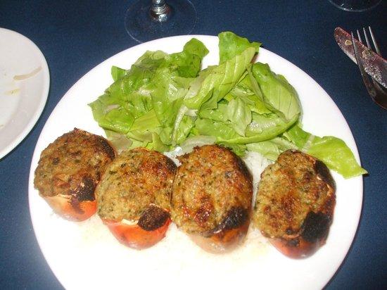 L'Houstalet Restaurant: Crabes farcis