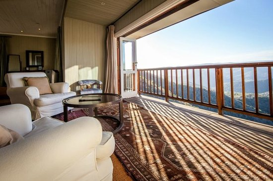 Camp Figtree: View from Luxury Suite