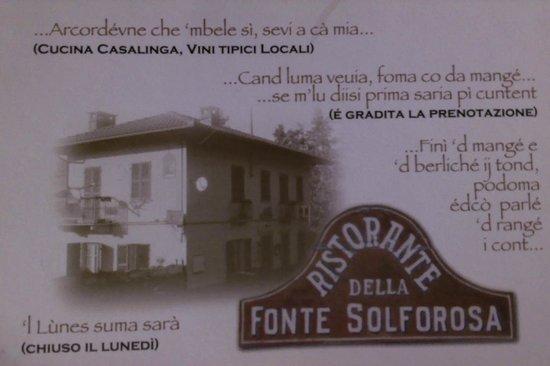 Castelnuovo Don Bosco, Italy: Fonte Solforosa - Cartolina