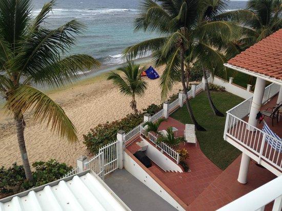 Villa Tropical Oceanfront Apartments on Shacks Beach: Shacks beach Sunday 2/16/14