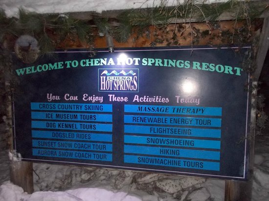 Chena Hot Springs Resort: china